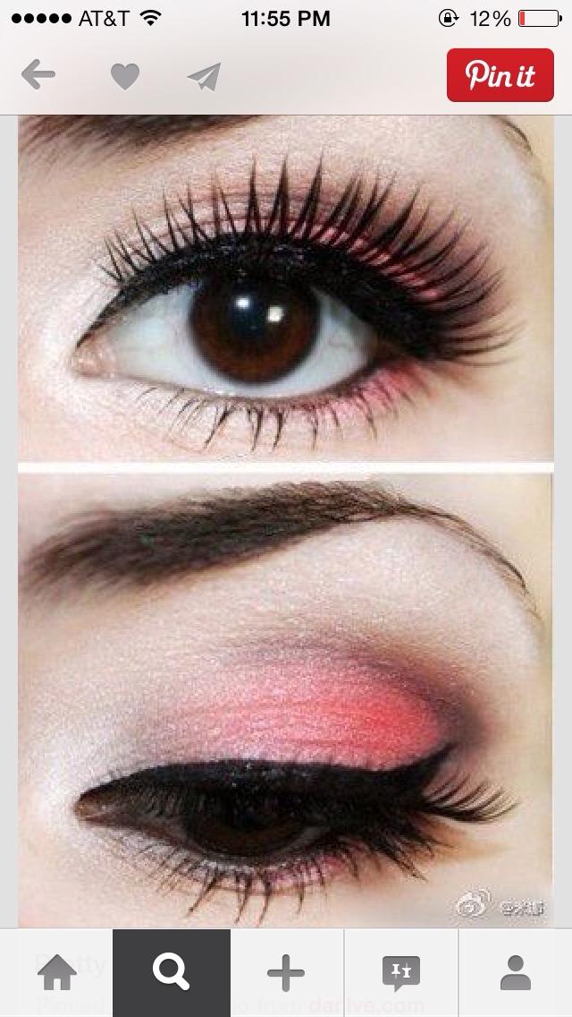 Легкий макияж для карих глаз на выпускной