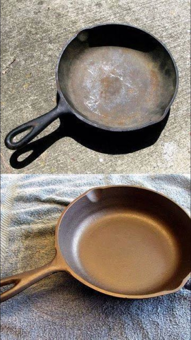 tuff clean tip how to clean a rusty cast iron skillet ok 2 like musely. Black Bedroom Furniture Sets. Home Design Ideas