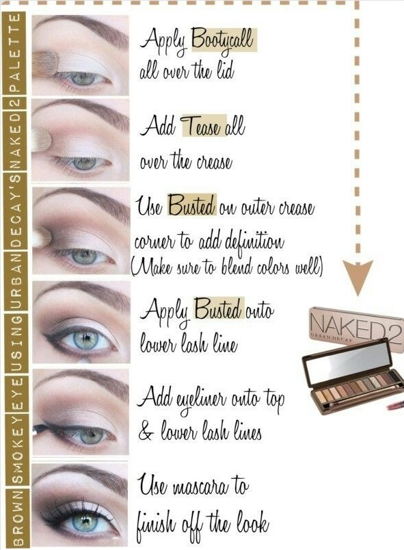 brown smokey eye using urban decay 39 s naked 2 palette. Black Bedroom Furniture Sets. Home Design Ideas