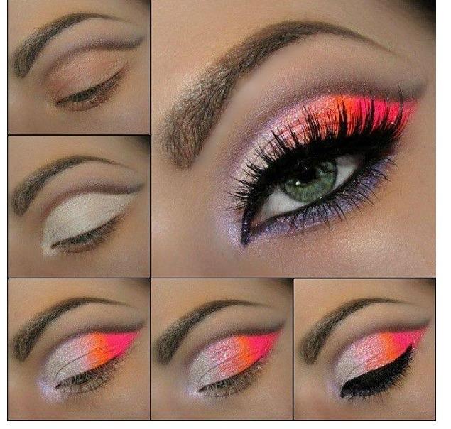 Летний макияж для глаз поэтапно