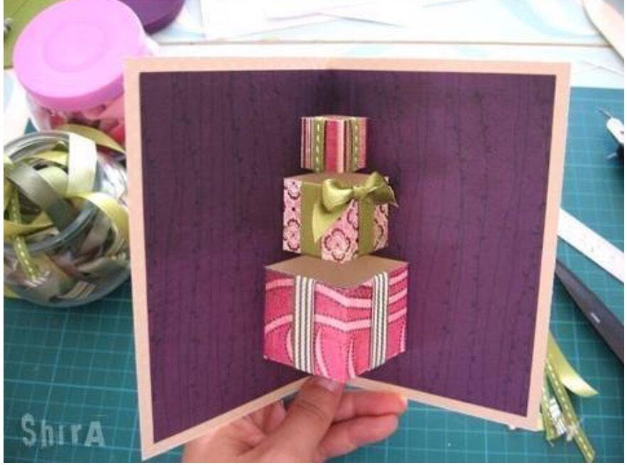 Как сделать открытку с сюрпризом день рождения