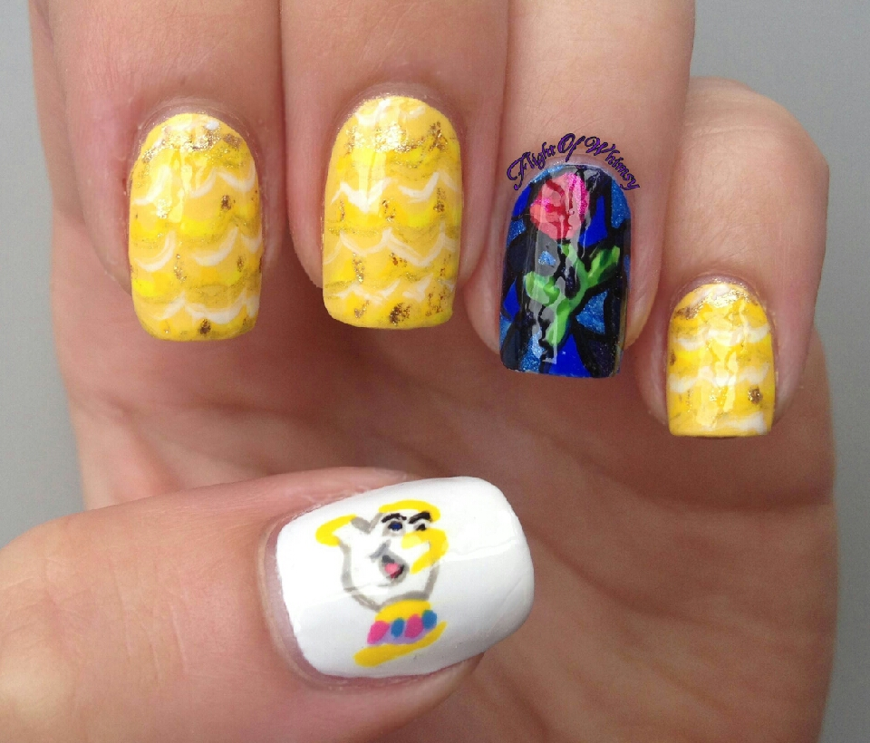 Рисунки на ногтях кораллово-были
