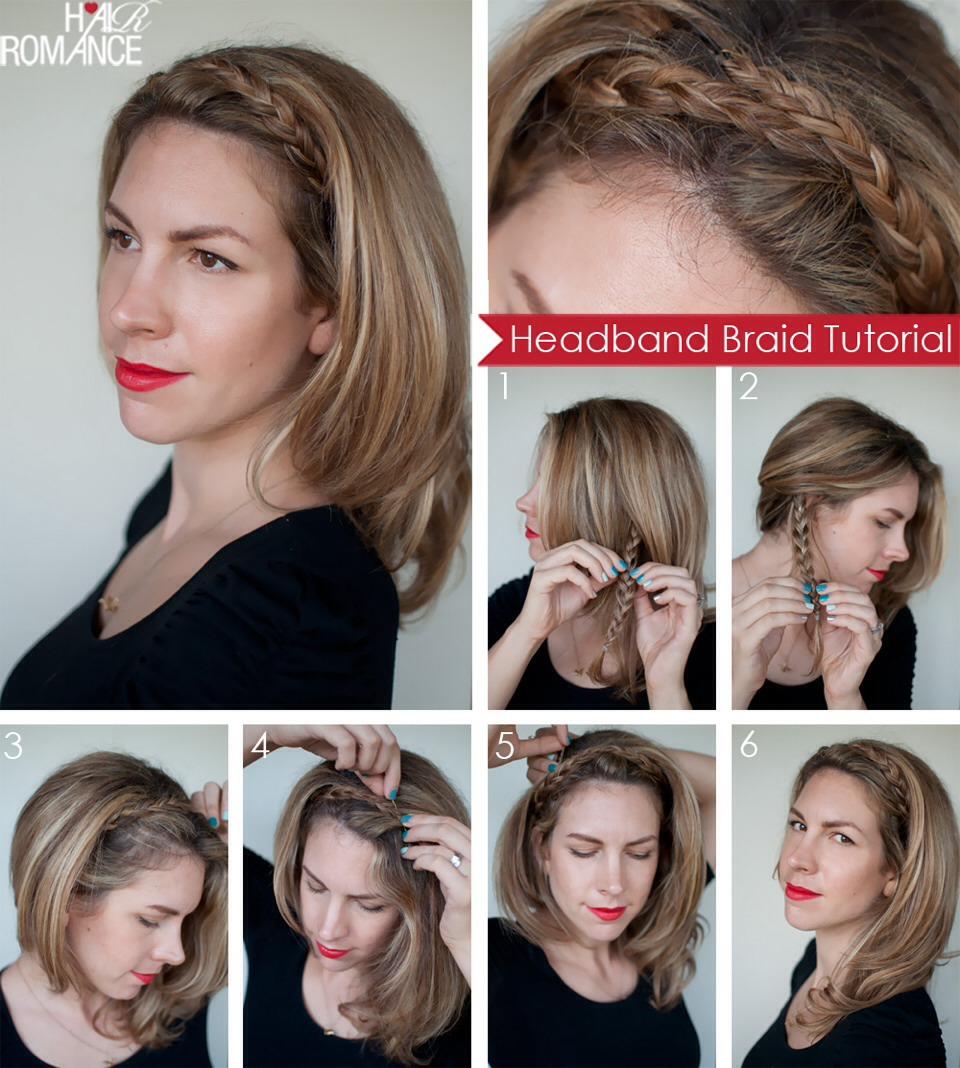Прическа на средние волосы в домашних условиях мк