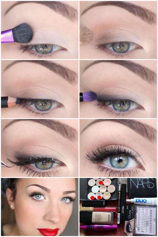 Макияж для серых глаз с пошаговым фото и видео 1