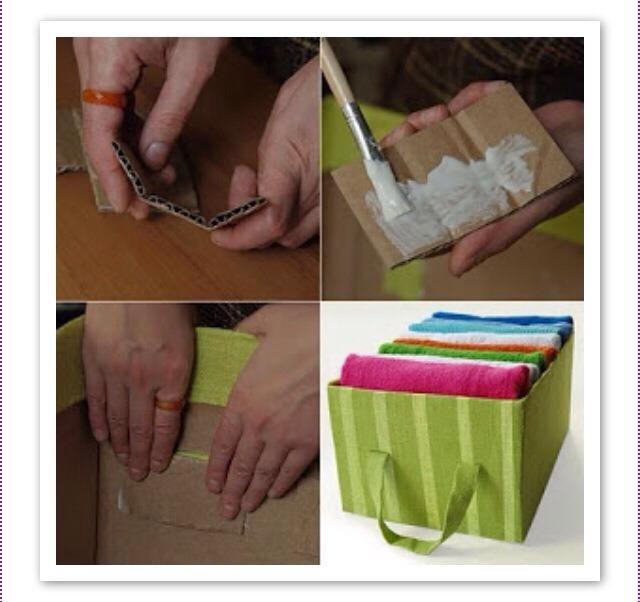 Как задекорировать картонную коробку 127