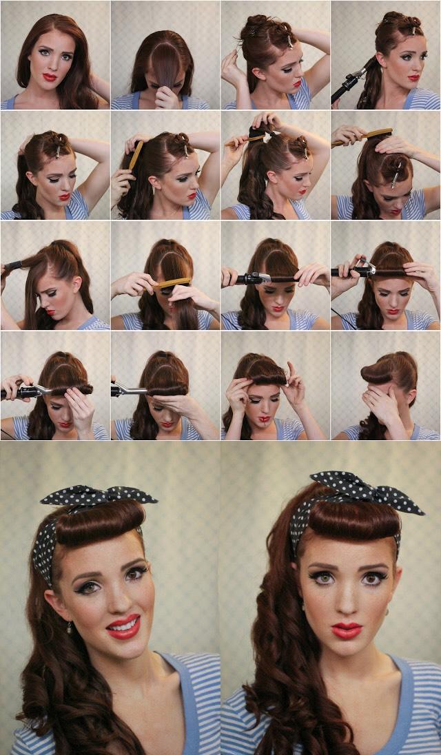 Причёски в стиле ретро на длинные волосы как делать