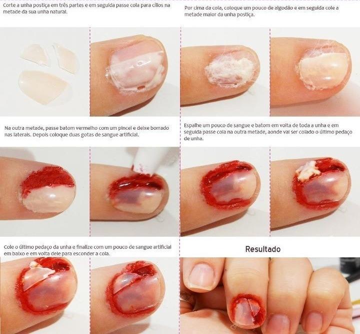 Как сделать сломанный ноготь маникюр
