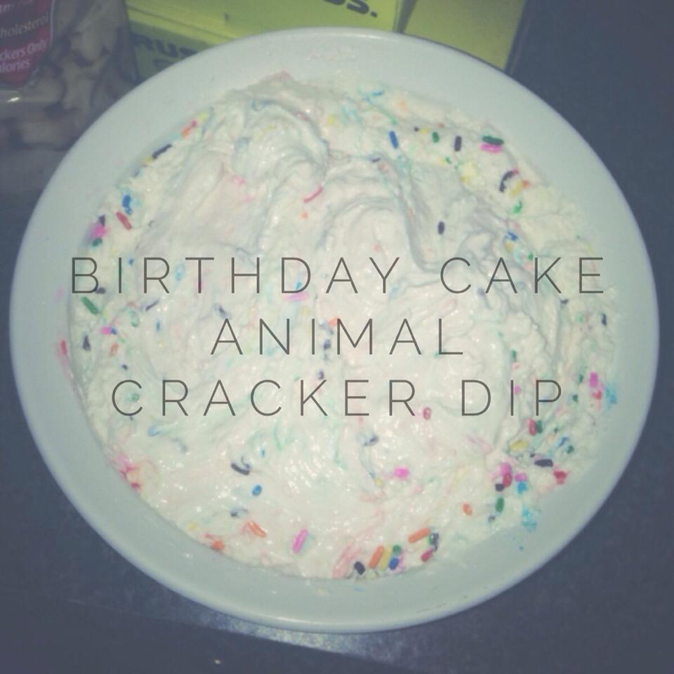 Birthday Cake Animal Cracker Dip