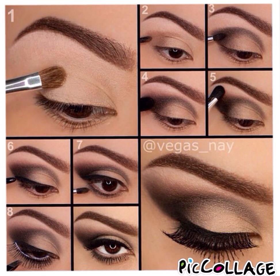 Пошаговый макияж для карих глаз для начинающих