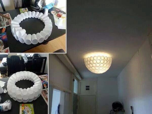 Делать своими руками светильник на кухню