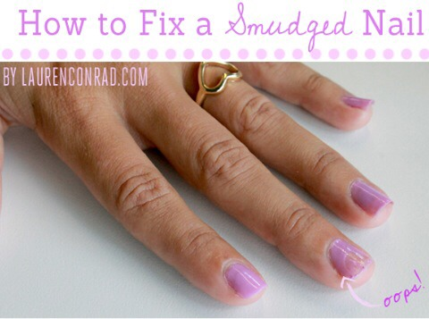 how to fix smudged pedicure