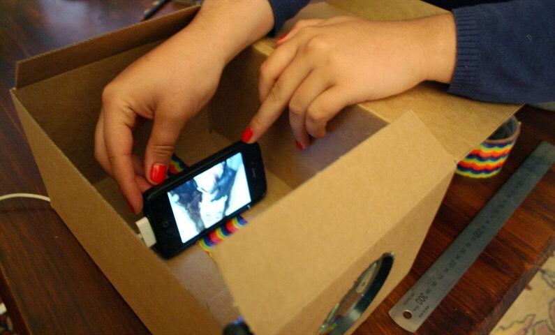Проектор для телефона своими руками видео