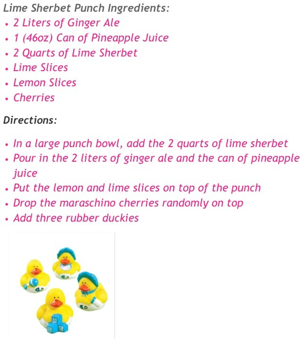 lime sherbet punch great idea for a baby shower