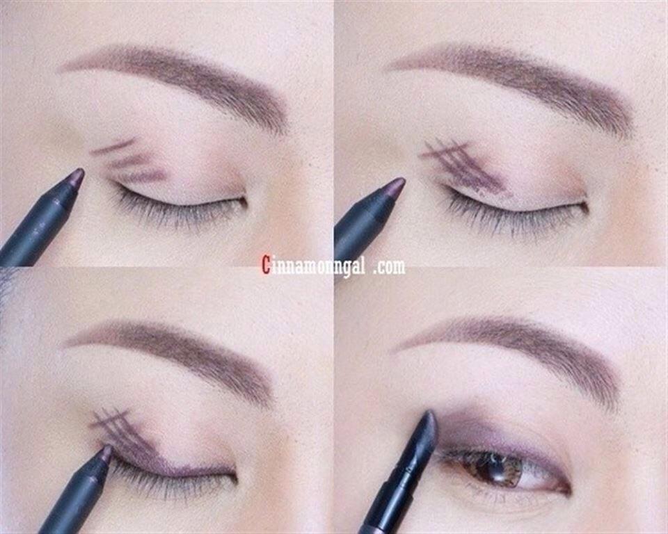 Как одним карандашом для глаз сделать макияж 824