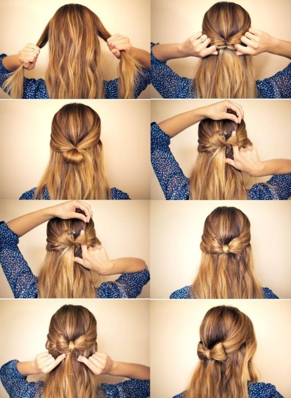 Как сделать причёски самой себе 69