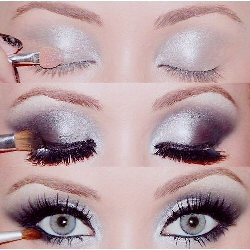 Вечерний макияж для черных глаз