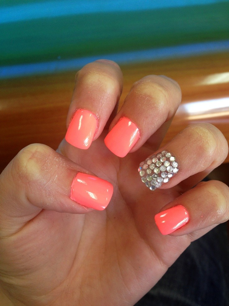 Coral Nail Designs For Prom