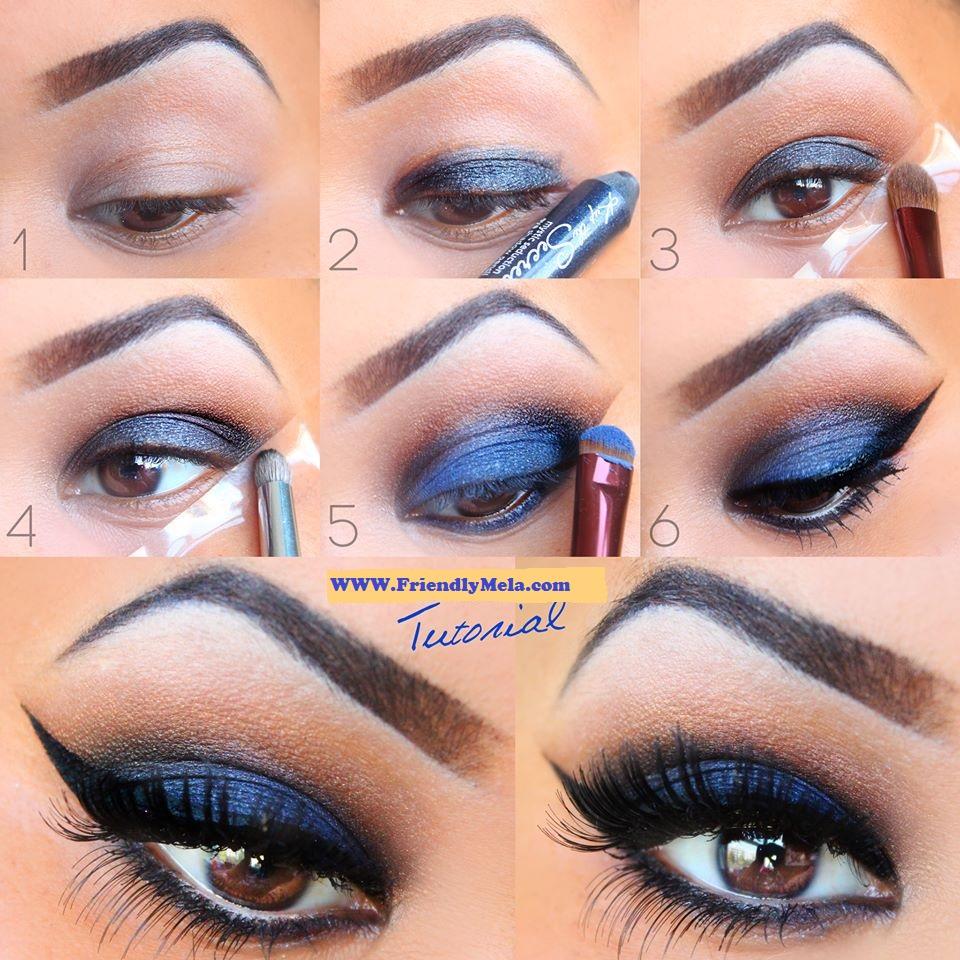 Красивый макияж для синих глаз пошагово с фото
