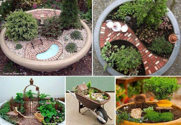 Как сделать своими руками мини сад