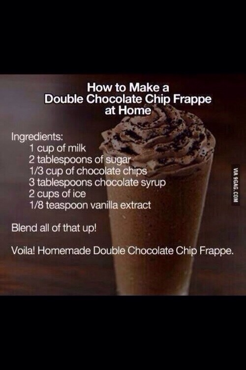 How To Make A Chocolate Chip Frappe At Home