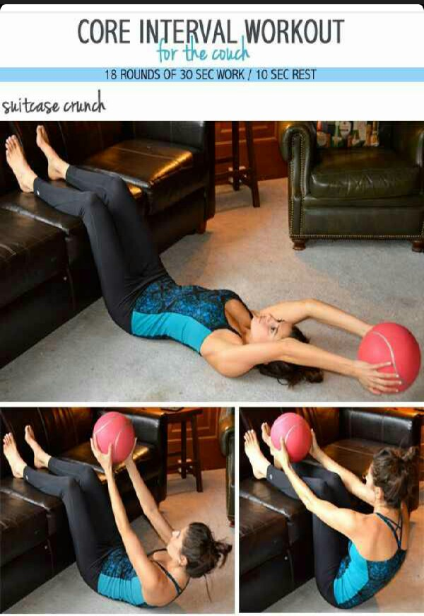 Core interval workout for the couch musely for Sofa workout