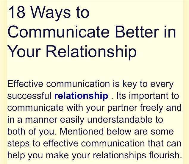 how to communicate better in your relationship