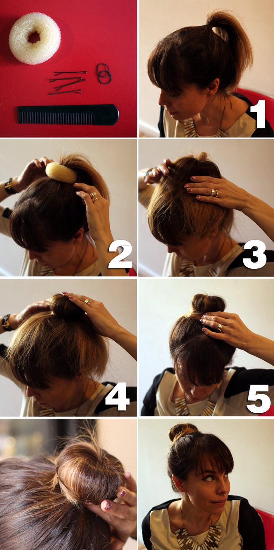 Как сделать на волосах дульку с резинкой