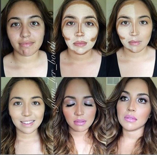 Как сделать чтобы лицо казалось уже