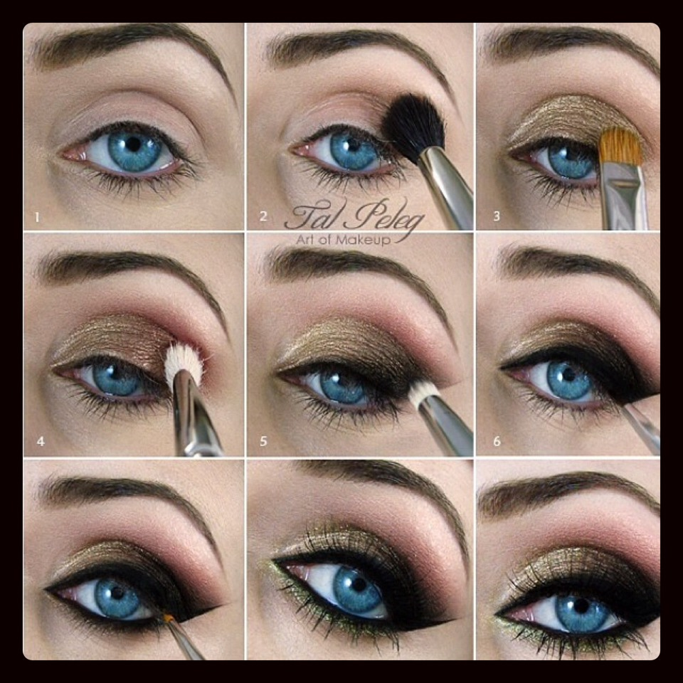 Макияж для голубых глаз фото пошаговое