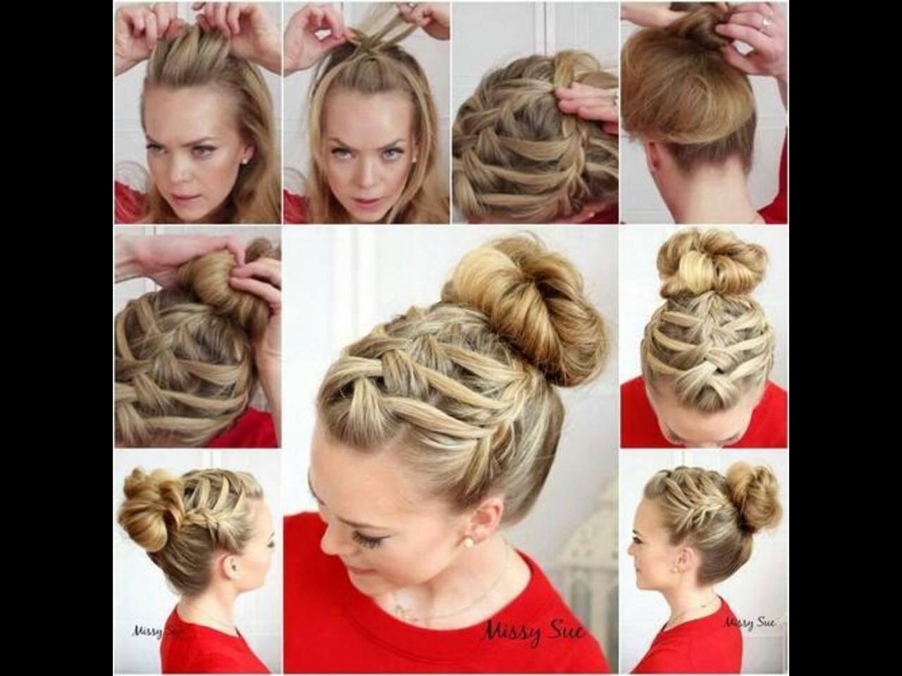 Коса на средние волосы своими руками в домашних условиях фото