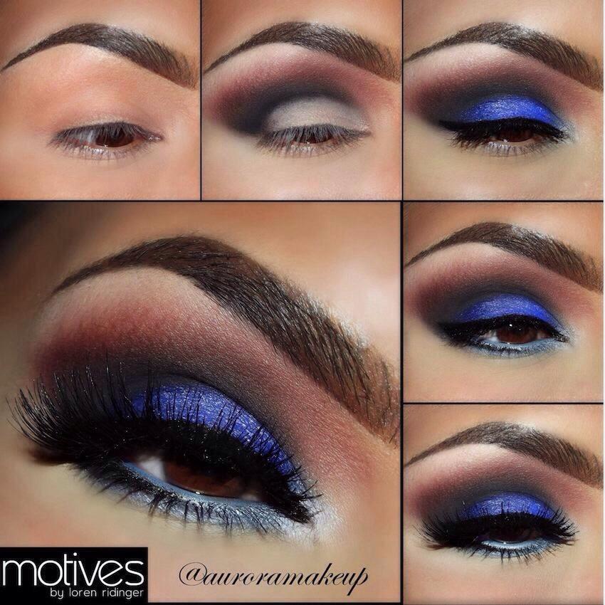 Праздничный макияж для карих глаз пошаговое