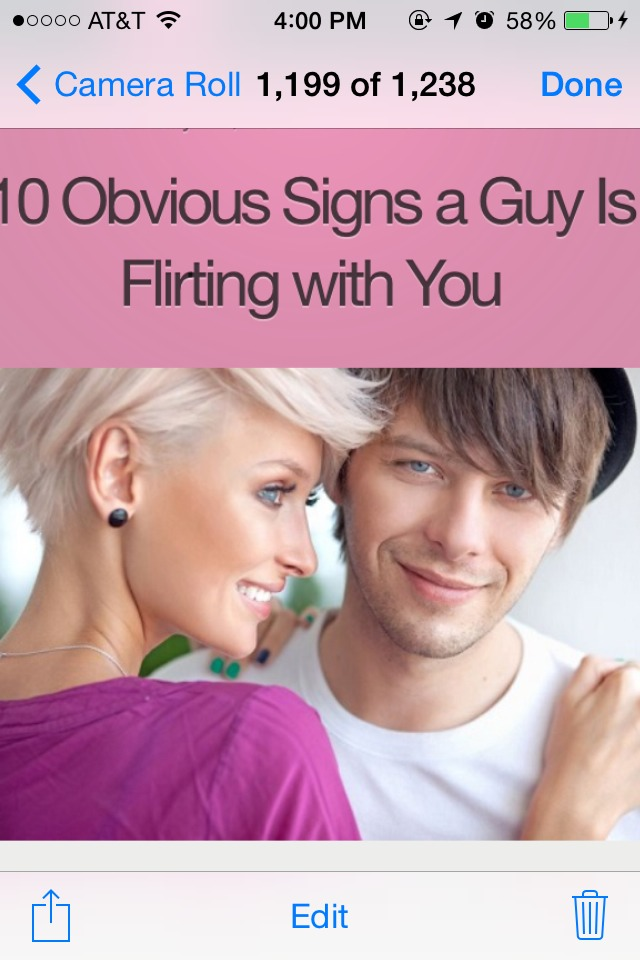 how to tell if a guy is flirting with u
