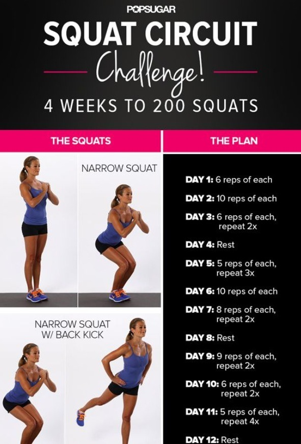 Squat Circuit Challenge. (not easy) - Musely