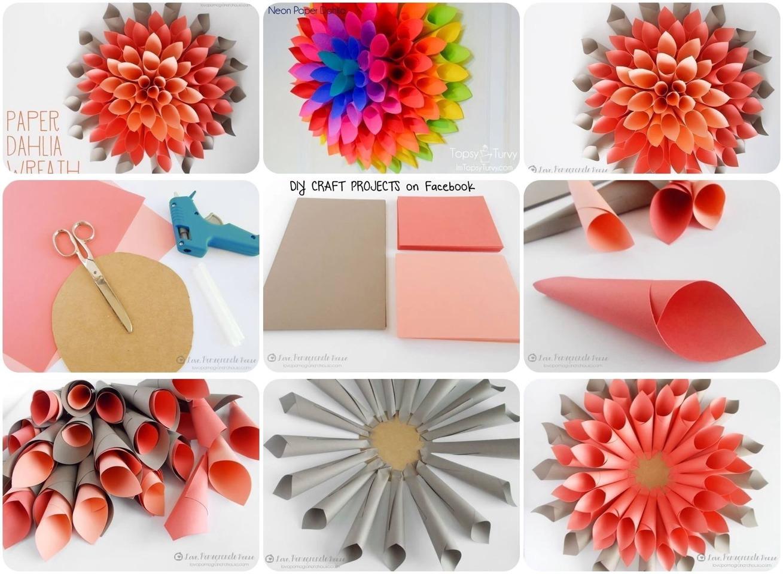 Цветы объемные из бумаги своими руками пошаговое фото