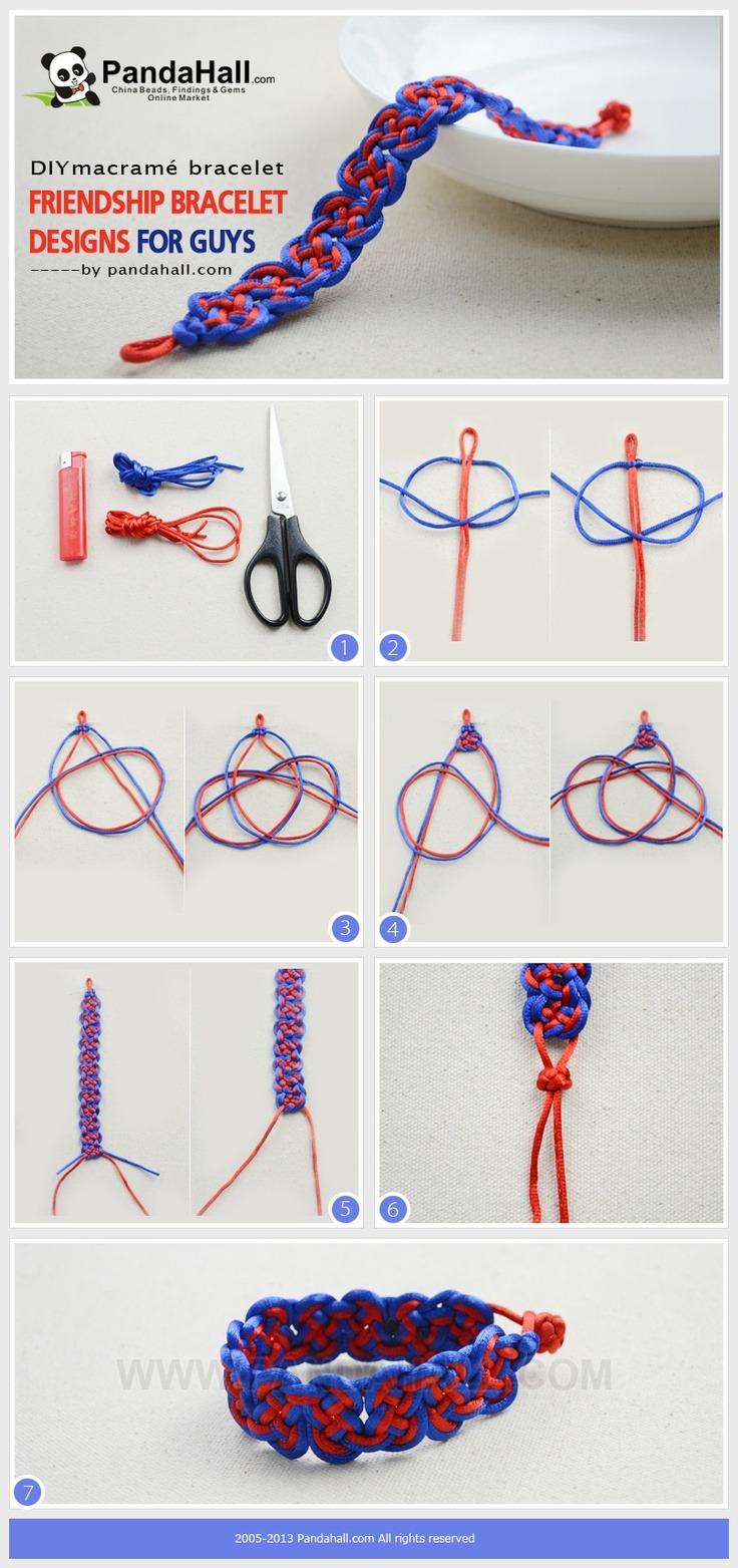 Плетеные из ниток браслеты своими руками