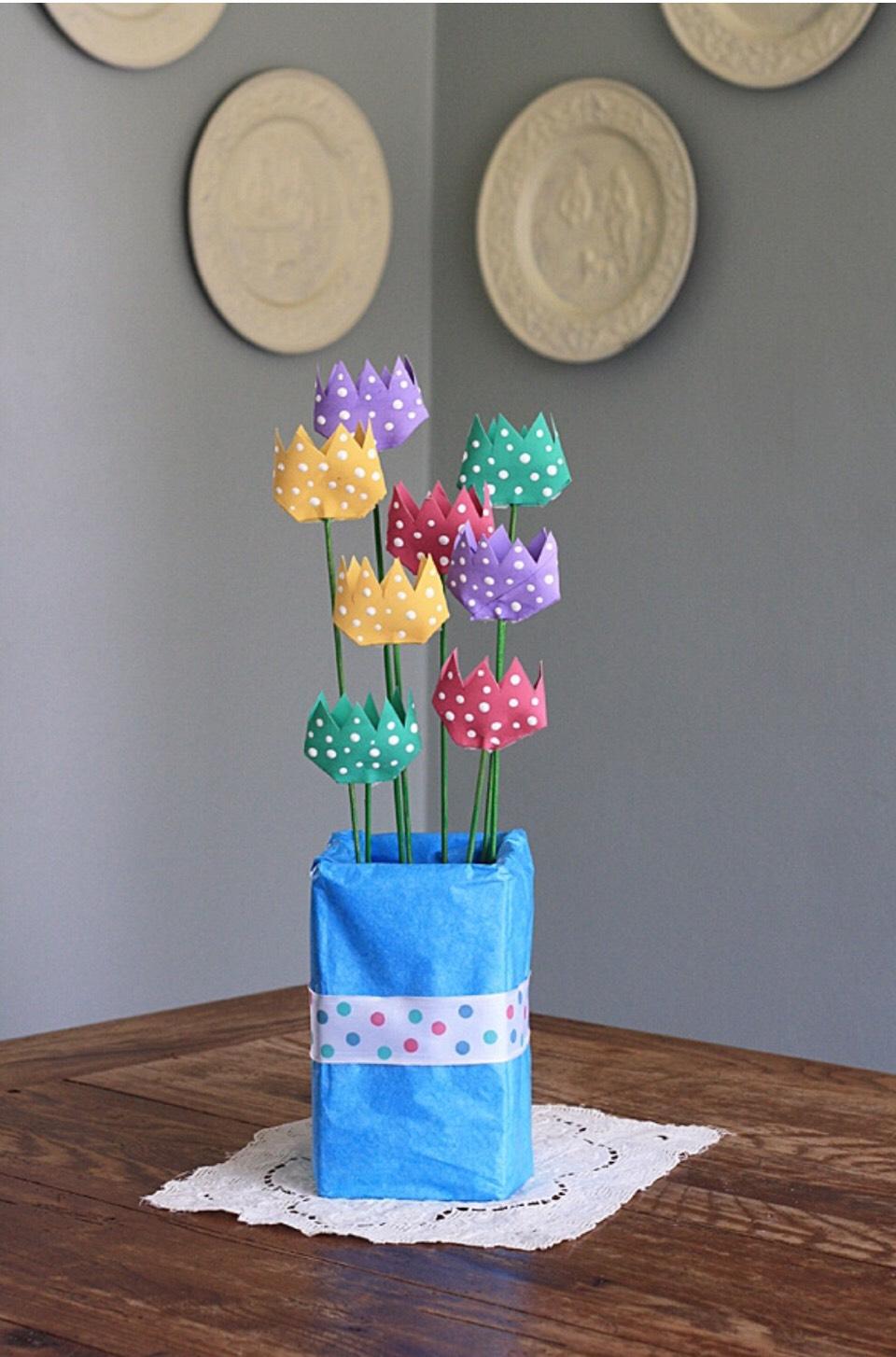 Поделки из втулок от туалетной бумаги цветы