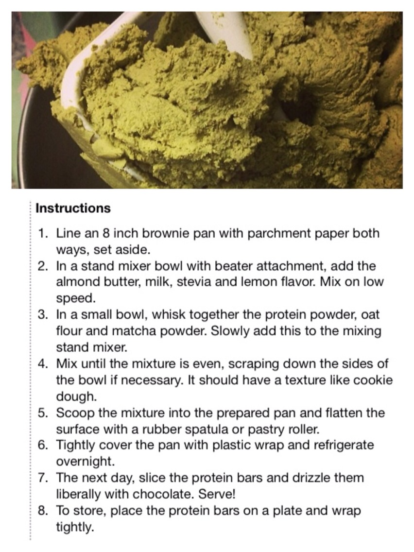 healthy matcha green tea fudge protein bars low sugar