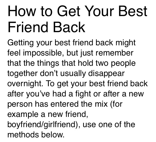 Fight For Friendship Quotes: 6 Ways To Get Your Best Friend Back After A Fight..👬👫
