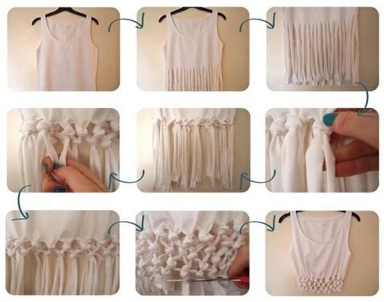 Как из старой футболки сделать модную майку своими руками