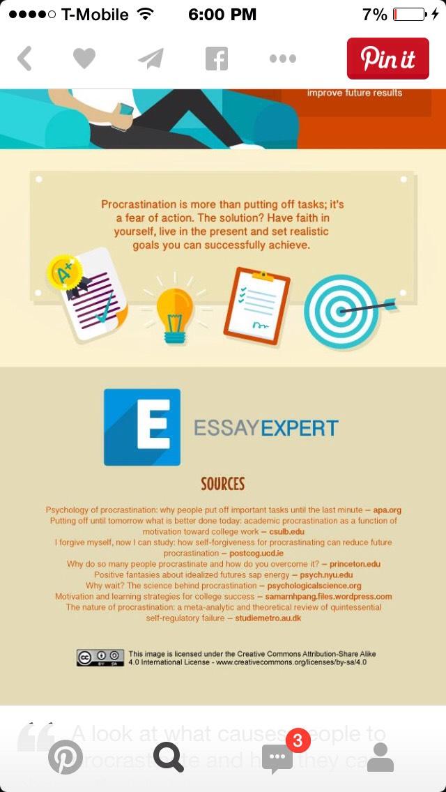 Causes procrastination essay