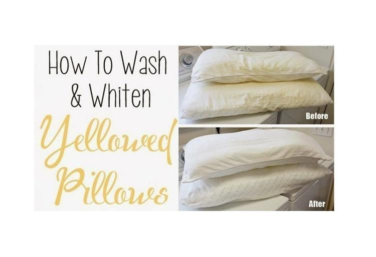 How to wash whiten yellowed pillows musely - Whiten yellowed pillows ...