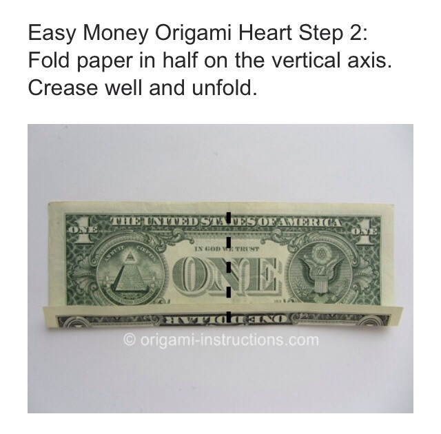 easy dollar bill origami heart ��� musely