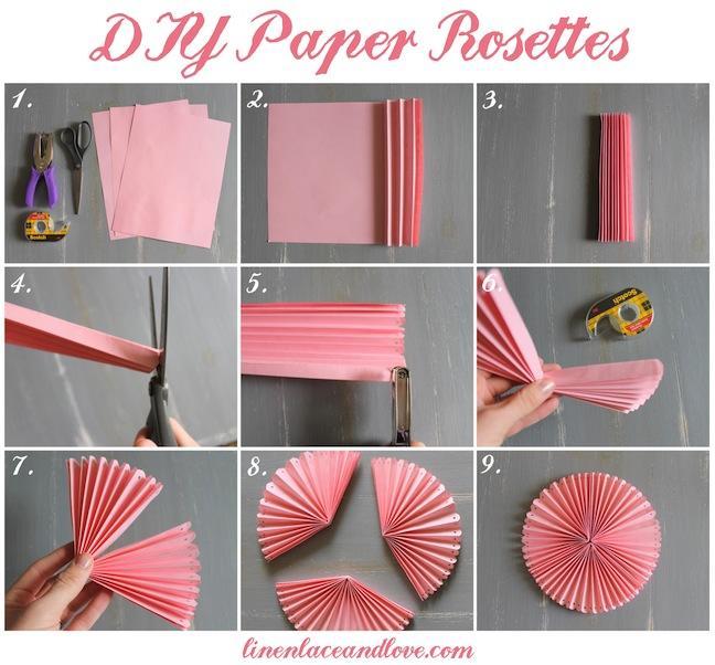 Веер из бумаги своими руками