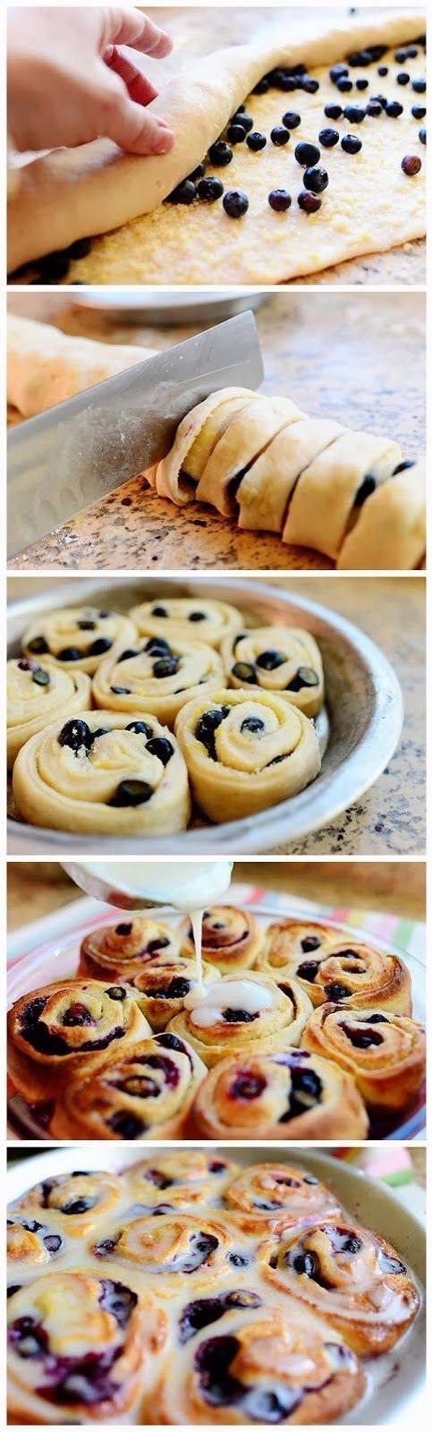 Blueberry Lemon Sweet Rolls - Use Pilsbury Rolls For The Dough ...