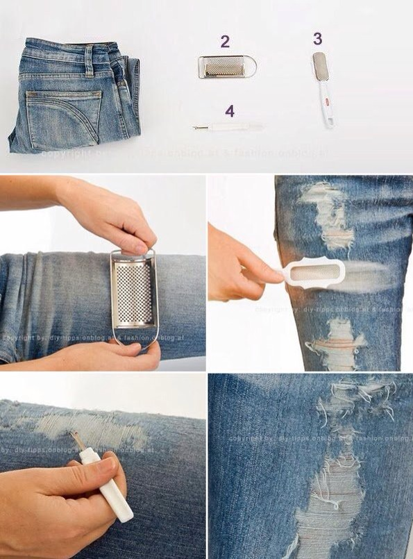 Как в домашних условиях сделать дырки на штанах