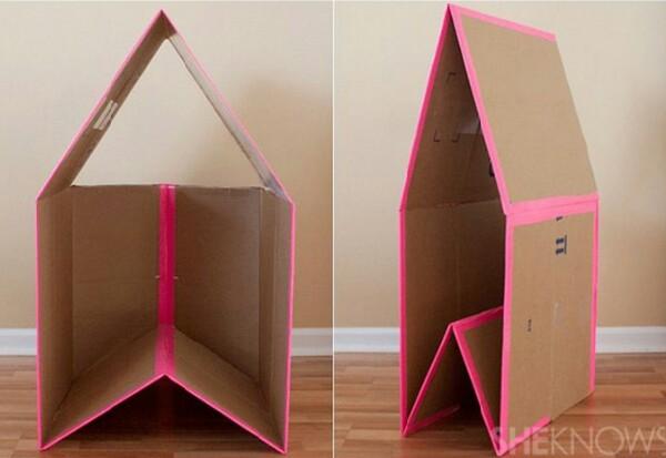 Домик из коробок
