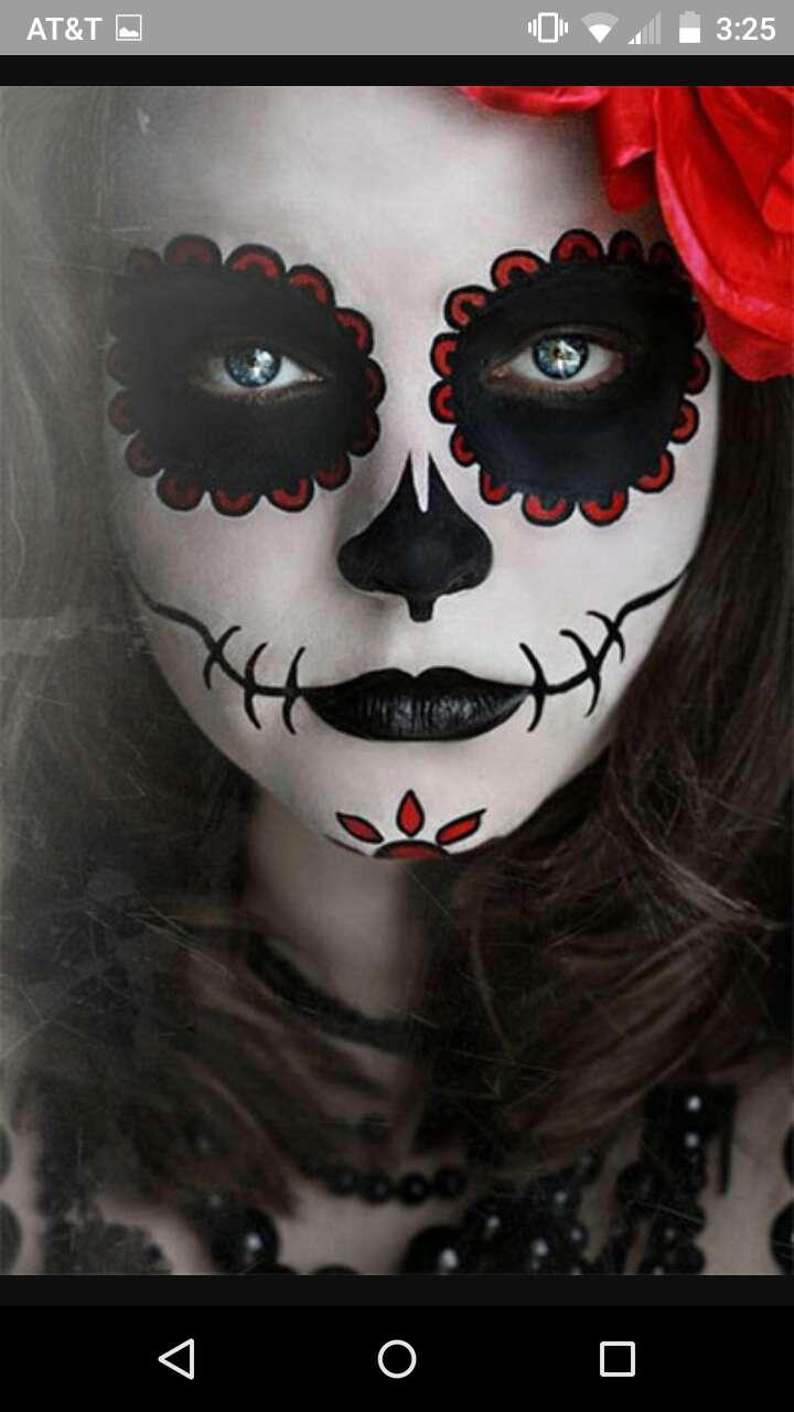 Грим на хэллоуин для девушки своими руками