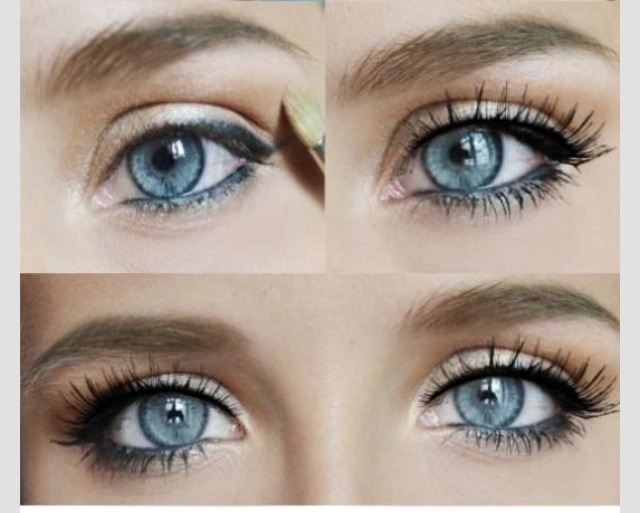 Perfect eye makeup for blue eyes