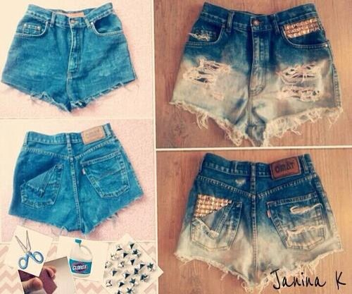 How To Make Cute High Waisted Shorts - The Else