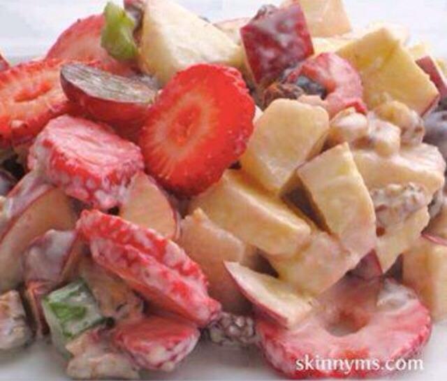 Skinny Fruit Yogurt Salad